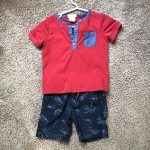 Size 18 months shirt and shorts set